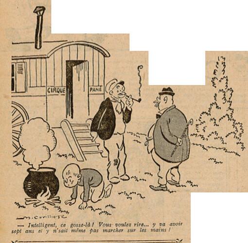 Le Pêle-Mêle 1925 - n°90 - page 9 - Intelligent ce gosse là - 8 novembre 1925
