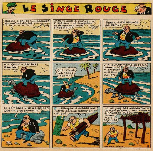 Pat épate 1949 - n°21 - Le Singe Rouge - 22 mai 1949 - page 1