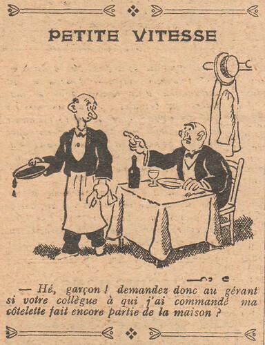 Le Pêle-Mêle 1928 - n°241 - page 10 - Petite vitesse - 30 septembre 1928