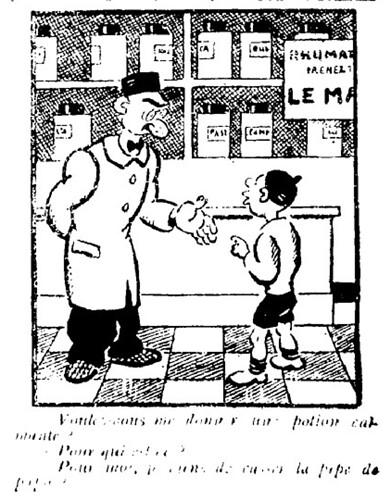 Le Pêle-Mêle 1929 - n°263 - Voulez-vous me donner ma potion calmante - 3 mars 1929 - page 9