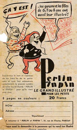 Ames Vaillantes 1956 - n°40 - 30 septembre 1956 - Publicité pour le magazine Perlin et Pinpin