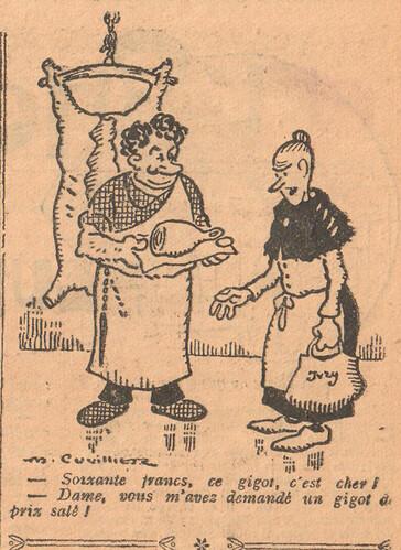 Le Pêle-Mêle 1926 - n°148 - page 11 - Soixante francs ce gigot c'est cher - 19 décembre 1926