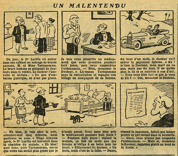 Fillette 1933 - n°1302 - page 11 - Un malentendu - 5 mars 1933