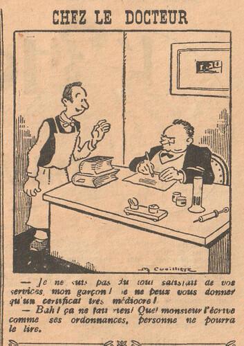 Le Pêle-Mêle 1927 - n°153 - page 11 - Chez le docteur - 23 janvier 1927