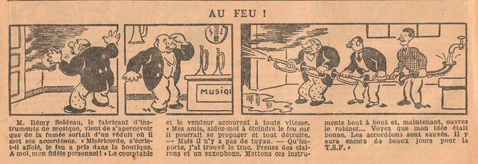 Le Petit Illustré 1929 - n°1292 - page 14 - Au feu - 14 juillet 1929