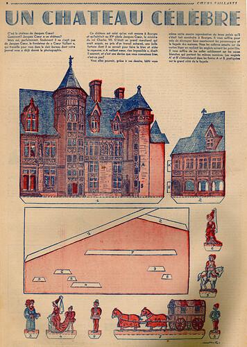 Coeurs Vaillants 1939 - n°2 - Un château célèbre - 8 janvier 1939 - page 8