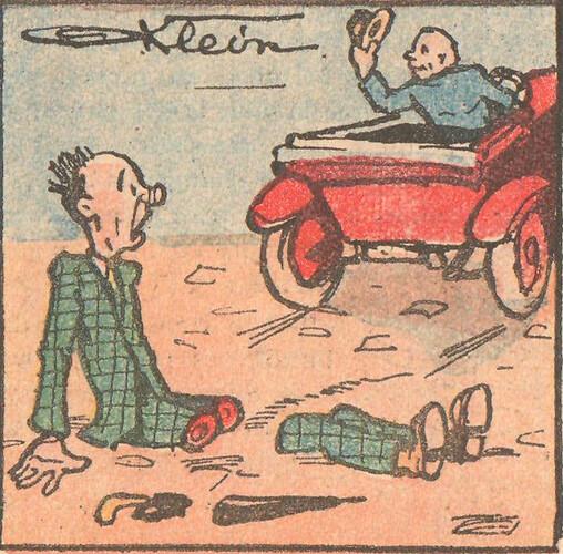 Le Pêle-Mêle 1925 - n°64 - page 15 - Dessin de Klein - 10 mai 1925