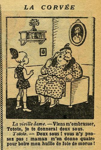 Fillette 1933 - n°1304 - page 7 - La corvée - 19 mars 1933