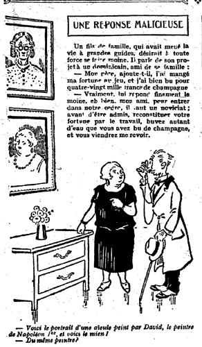 Le Pêle-Mêle 1926 - n°102 - page 16 - Une réponse malicieuse (G) - 21 janvier 1926