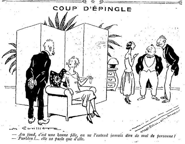 Le Pêle-Mêle 1925 - n°76 - page 18 - Coup d'épingle (G) - 2 août 1925