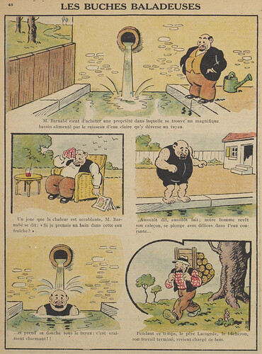 Guignol 1930 - n°147 - Les buches baladeuses - 15 juin 1930 - page 46
