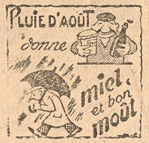 Almanach CV-AV 1946 - REBATIR - page 29 - Proverbe de Août