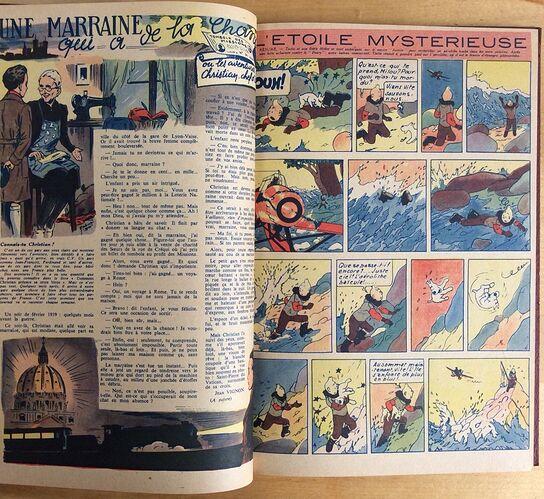 Reliure Coeurs Vaillants 1944 vendu en août 2018 (8)