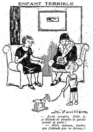 Le Pêle-Mêle 1927 - n°195 - page 7 - Enfant terrible (G) - 13 novembre 1927