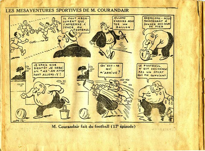 Les mésaventures sportives de M. COURANDAIR (17e épisode)