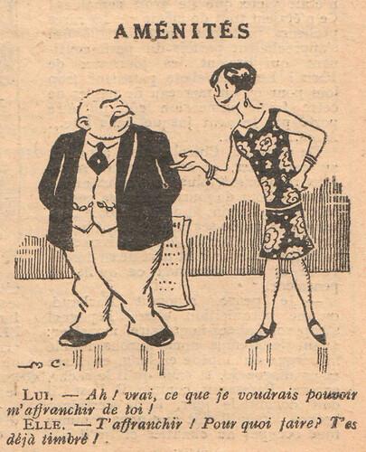Le Pêle-Mêle 1927 - n°196 - page 11 - Aménités - 20 novembre 1927