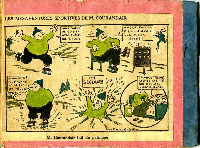 Les mésaventures sportives de M. COURANDAIR (dernier plat)