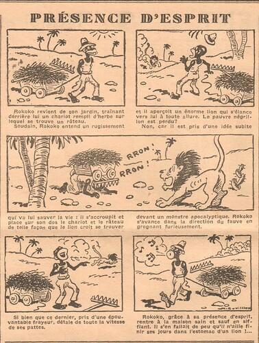 Coeurs Vaillants 1935 - n°39 - page 6 - Présence d'esprit - 29 septembre 1935