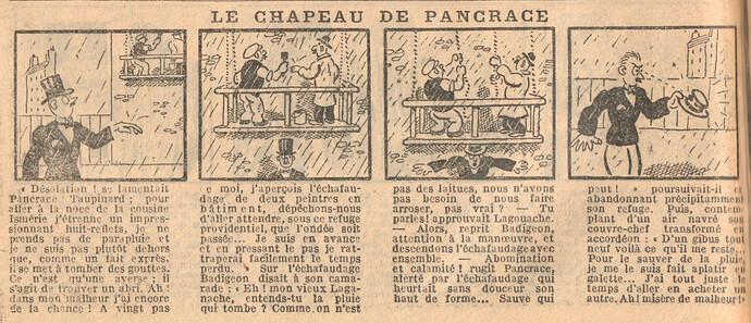 Le Petit Illustré 1929 - n°1270 - page 14 - Le chapeau de Pancrace - 10 février 1929