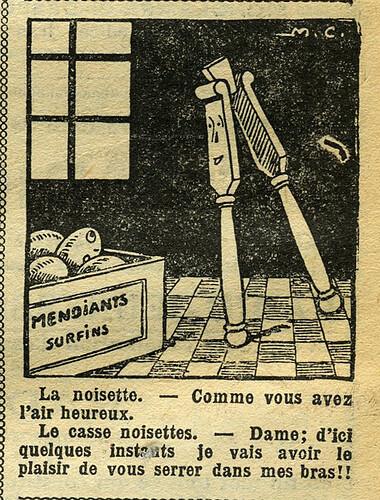 Fillette 1933 - n°1295 - page 12 - Dessin sans titre - 15 janvier 1933