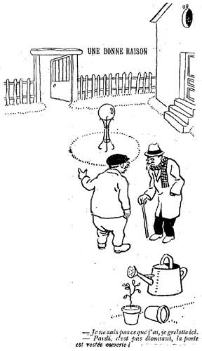 Le Pêle-Mêle 1925 - n°69 - page 14 - Une bonne raison (G) - 14 juin 1925
