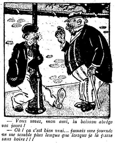 Le Pêle-Mêle 1925 - n°77 - page 11 - Vous savez mon ami la boisson abrège vos jours (G) - 9 août 1925