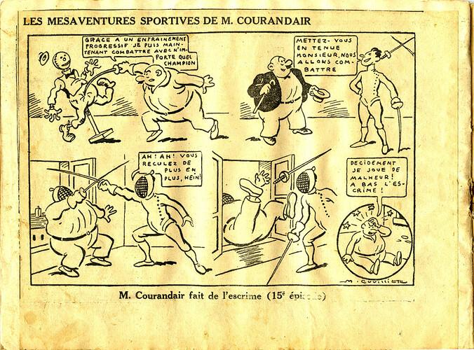 Les mésaventures sportives de M. COURANDAIR (15e épisode)
