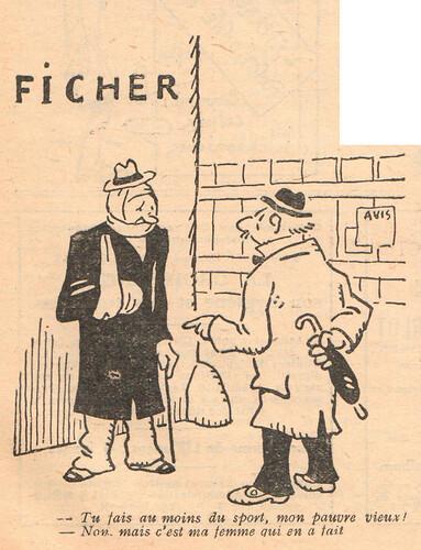 Le Pêle-Mêle 1929 - n°270 - Tu fais au moins du sport - 21 avril 1929 - page 11