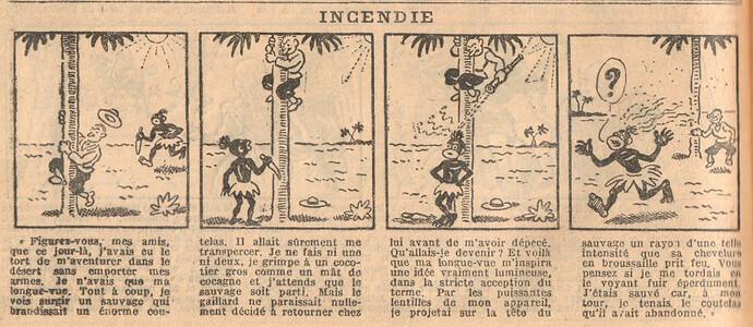 Le Petit Illustré 1929 - n°1274 - page 14 - Incendie - 10 mars 1929
