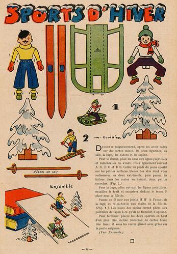 Fillette 1941 - n°1698 - page 6 - Sports d'hiver - 2 février 1941