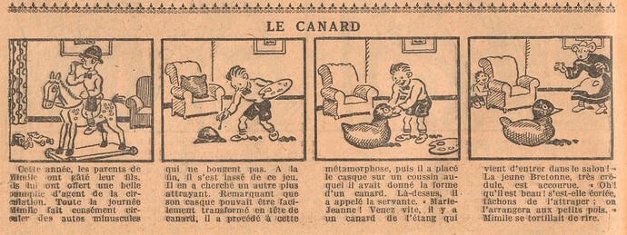 Le Petit Illustré 1929 - n°1286 - page 14 - Le canard - 2 juin 1929