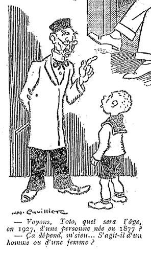 Le Pêle-Mêle 1927 - n°179 - page 2 - Voyons Toto quel sera l'âge en 1927 d'une personne née en 1877 (G) - 24 juillet 1927