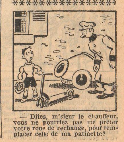 Le Petit Illustré 1929 - n°1282 - page 4 - Dites m'sieur le chauffeur - 5 mai 1929