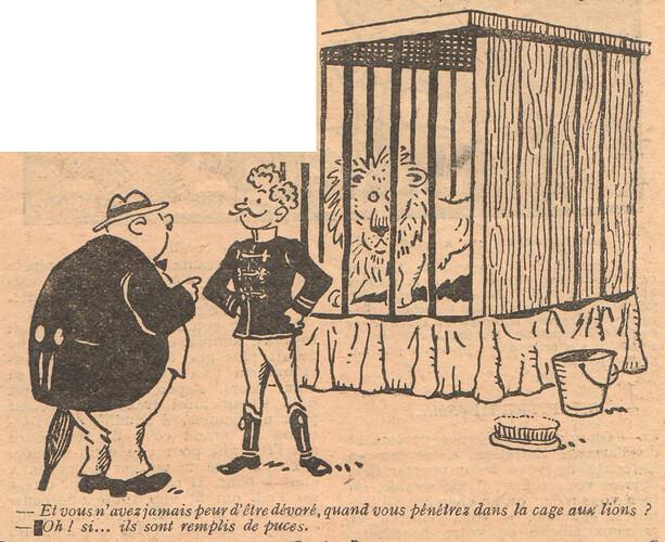 Le Pêle-Mêle 1927 - n°190 - page 3 - Et vous n'avez jamais peur d'être dévoré - 9 octobre 1927