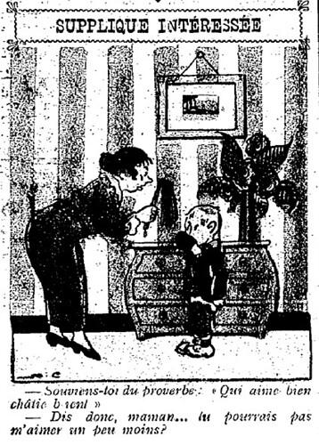 Le Pêle-Mêle 1925 - n°59 - page 10 - Supplique intéressée (G) - 5 avril 1925