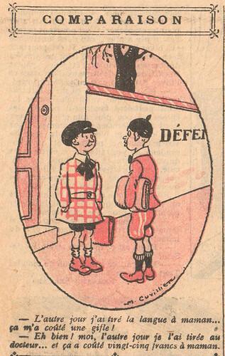 Le Pêle-Mêle 1924 - n°39 - page 10 - Comparaison - 16 novembre 1924