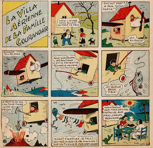 Pat épate 1949 - n°1 - La villa aérienne de la famille Courandair - 2 janvier 1949