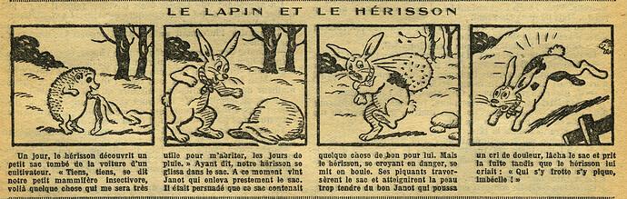 Fillette 1933 - n°1301 - page 6 - Le lapin et le hérisson - 26 février 1933