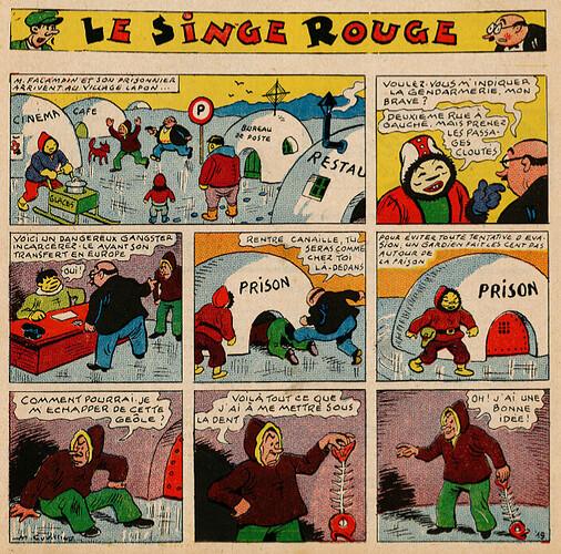 Pat épate 1949 - n°32 - Le Singe Rouge - 6 août 1949 - page 1