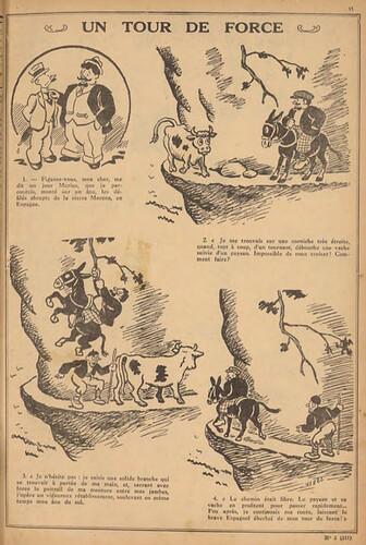 Pierrot 1932 - n°3 - page 11 - Un tour de force - 17 janvier 1932