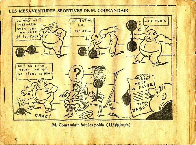 Les mésaventures sportives de M. COURANDAIR (11e épisode)