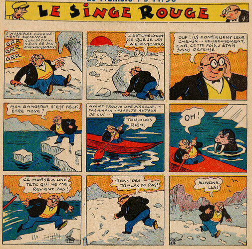 Pat épate 1949 - n°36 - Le Singe Rouge - 4 septembre 1949 - page 1