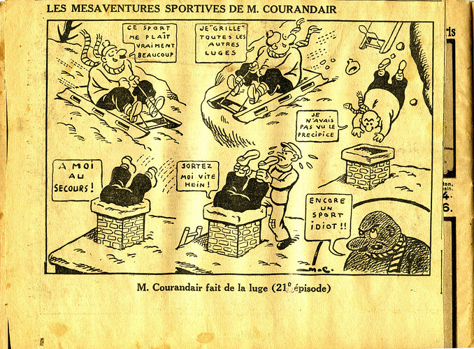 Les mésaventures sportives de M. COURANDAIR (21e épisode)