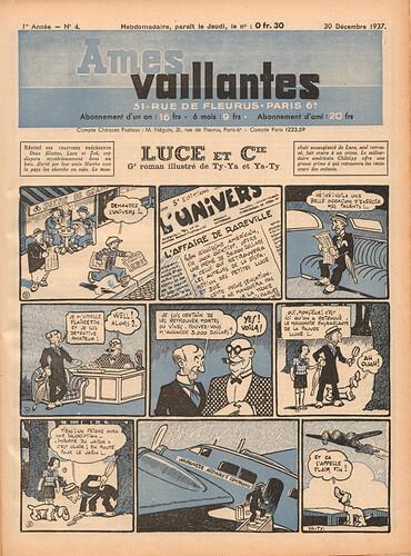 Ames Vaillantes 1937 - n°4 - 30 décembre 1937 - page 1