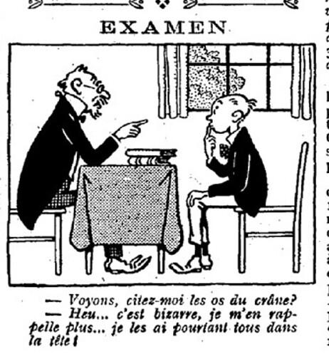 Le Pêle-Mêle 1926 - n°108 - page 14 - Examen (G) - 14 mars 1926