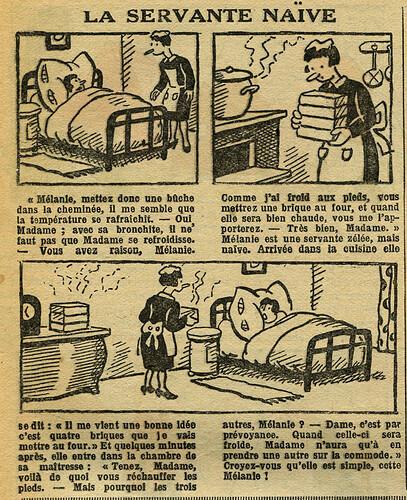 Fillette 1933 - n°1300 - page 7 - La servante naïve - 19 février 1933