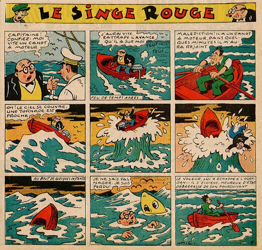 Pat épate 1949 - n°20 - Le Singe Rouge - 15 mai 1949 - page 1