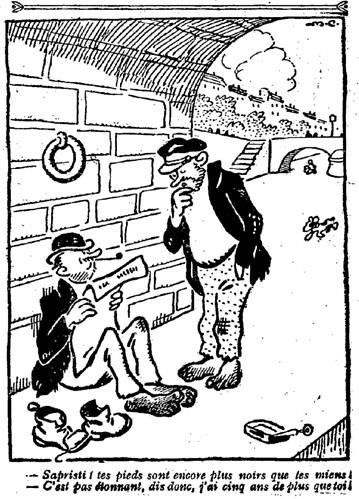 Le Pêle-Mêle 1926 - n°118 - page 9 - Sapristi tes pieds sont encore plus noirs que les miens (G) - 23 mai 1926