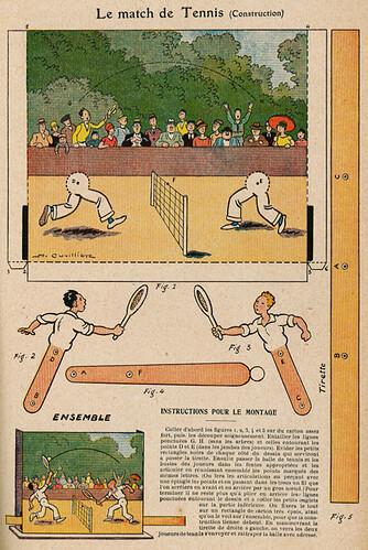 Almanach Vermot 1930 - 11 - Le match de tennis (construction) - Vendredi 21 mars 1930