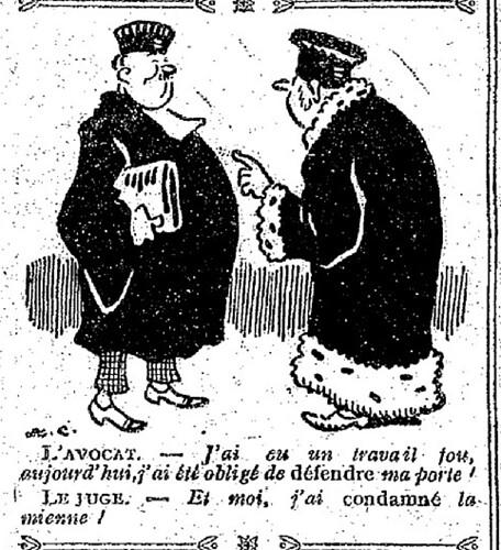 Le Pêle-Mêle 1927 - n°162 - page 10 - L'avocat - J'ai eu un travail fou aujourd'hui - 27 mars 1927